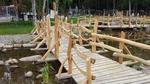Holzsteg für den Garten oder der Krippe oder alles andere